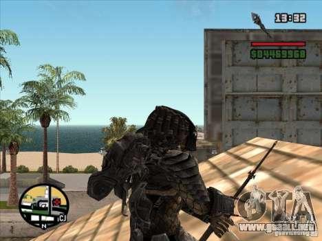 La lanza de Predator para GTA San Andreas tercera pantalla