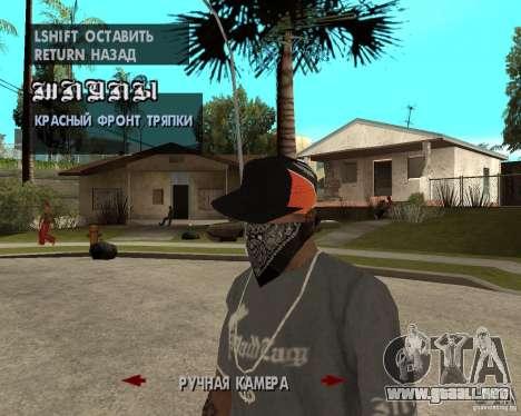 Hip-Hop caps para GTA San Andreas quinta pantalla