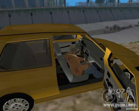 Fiat Mille Fire 1.0 2006 para GTA San Andreas vista hacia atrás