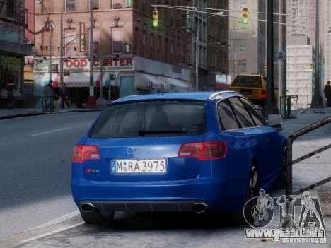 Audi RS6 Avant para GTA 4 Vista posterior izquierda