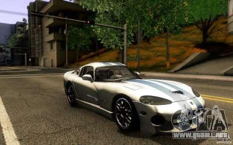 Dodge Viper GTS Coupe TT Black Revel para GTA San Andreas vista hacia atrás