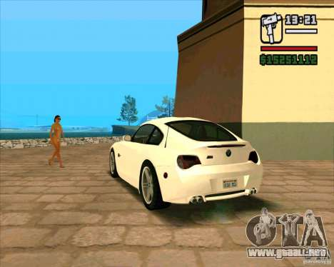 BMW Z4 M Coupe para GTA San Andreas left