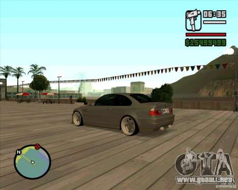 BMW E46 M3 Sport para GTA San Andreas left
