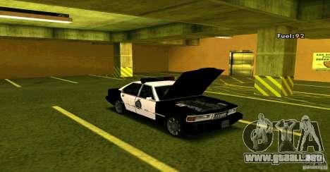 Sentinel Police LV para la visión correcta GTA San Andreas