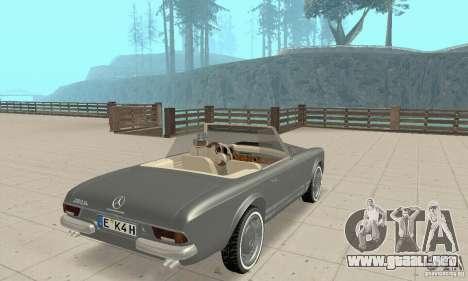 Mercedes-Benz 280SL (Matt) para GTA San Andreas left