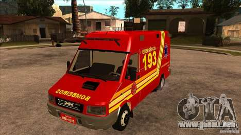 Iveco Daily UR Bombeiros SP para GTA San Andreas