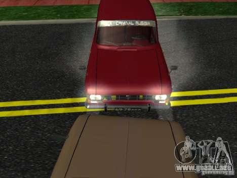 Moskvich 434 para GTA San Andreas vista posterior izquierda