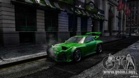 Mazda RX-7 Bushido para GTA 4 vista hacia atrás