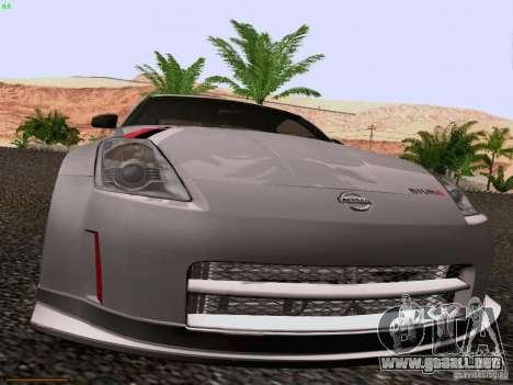 Nissan 350Z Nismo S-Tune para visión interna GTA San Andreas