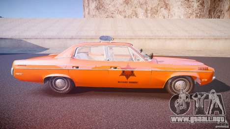 AMC Matador Hazzard County Sheriff [ELS] para GTA 4 vista lateral