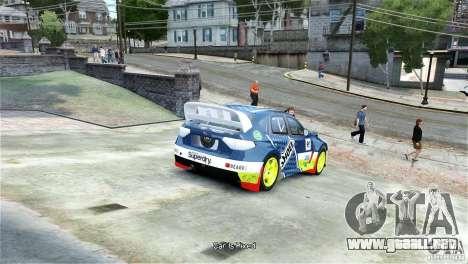 Subaru Impreza WRX STI Rallycross SHOEL Vinyl para GTA 4 Vista posterior izquierda