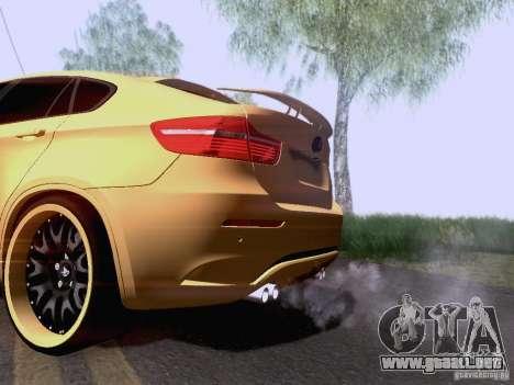 BMW X6M Hamann para GTA San Andreas vista posterior izquierda