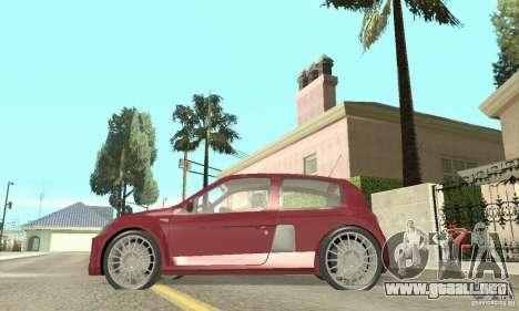 Renault Clio Phase 2 para GTA San Andreas vista posterior izquierda