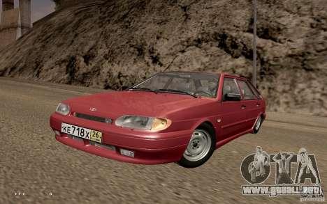 ВАЗ 2114 calidad para GTA San Andreas vista posterior izquierda