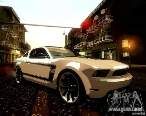 Ford Mustang Boss 302 2011 para vista lateral GTA San Andreas