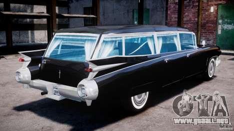 Cadillac Miller-Meteor Hearse 1959 para GTA 4 vista interior