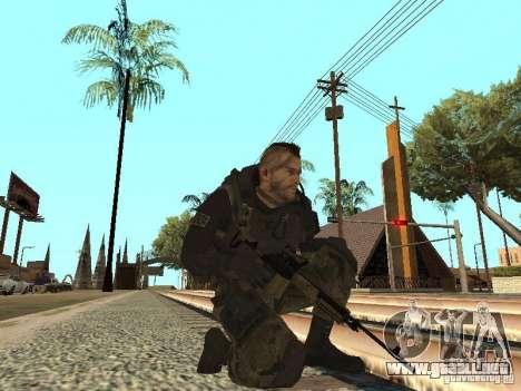 Captain MacTavish para GTA San Andreas quinta pantalla