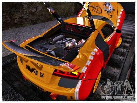 Audi R8 Calibri-Ace para GTA San Andreas vista hacia atrás