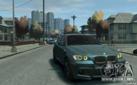BMW X6-M 2010 para GTA 4 vista hacia atrás