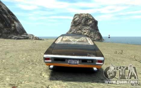Chevrolet Chevelle SS 1970 para GTA 4 Vista posterior izquierda