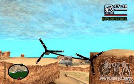 Bell V-22 Osprey para GTA San Andreas left
