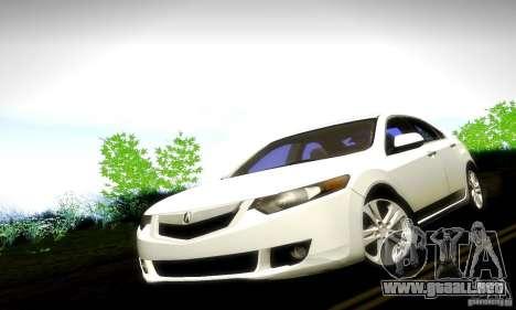 Acura TSX V6 para la visión correcta GTA San Andreas