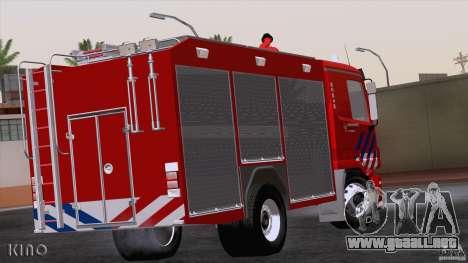 Mercedes-Benz Actros Fire Truck para la visión correcta GTA San Andreas