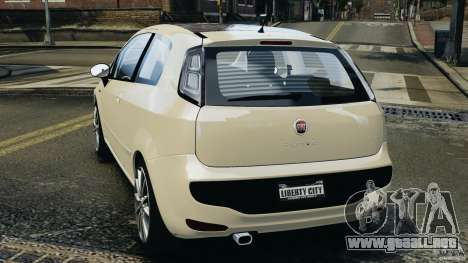 Fiat Punto Evo Sport 2012 v1.0 [RIV] para GTA 4 Vista posterior izquierda