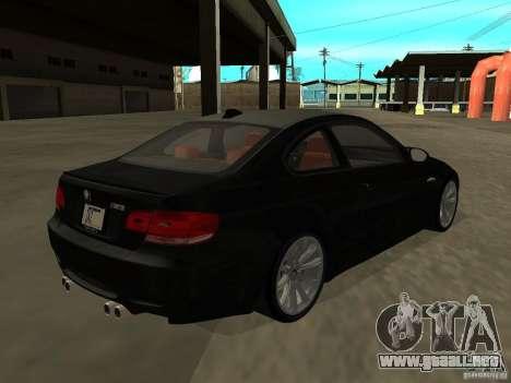 BMW M3 E92 Tunable para GTA San Andreas left