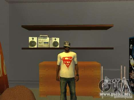 Camiseta de Superman para GTA San Andreas