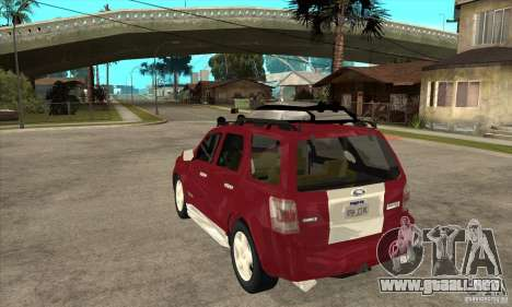 Ford Escape 2009 para GTA San Andreas vista posterior izquierda