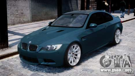 BMW M3 E92 stock para GTA 4 left