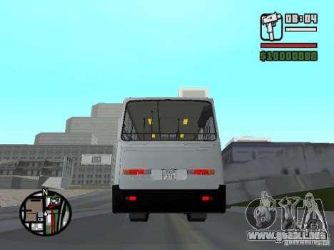 Ikarus 260.06 para GTA San Andreas vista posterior izquierda