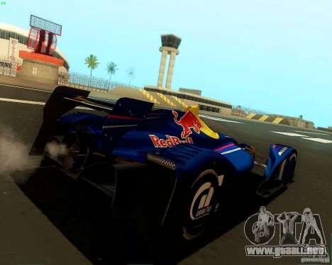 X2010 Red Bull para GTA San Andreas vista posterior izquierda