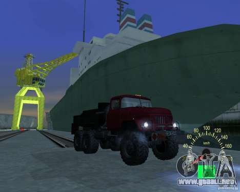 ZIL 131 petrolero para GTA San Andreas vista hacia atrás