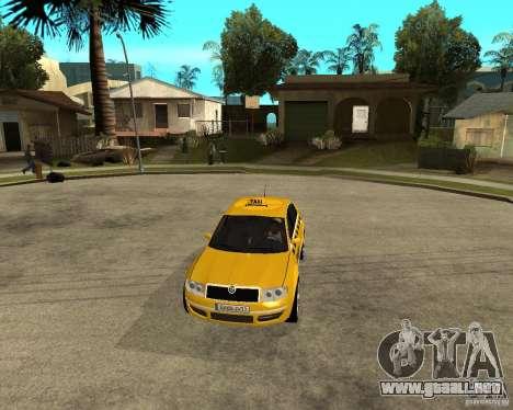 Skoda Superb TAXI cab para visión interna GTA San Andreas