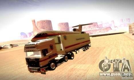 Rusia FEMA Trailer para GTA San Andreas vista hacia atrás