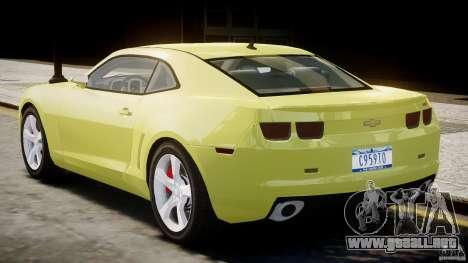Chevrolet Camaro SS 2009 v2.0 para GTA 4 visión correcta