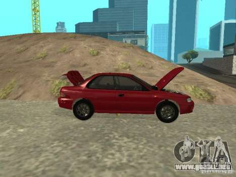Subaru Impreza WRX STI 1995 para visión interna GTA San Andreas