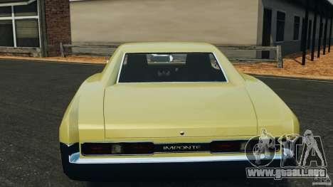 New Dukes para GTA 4 vista desde abajo