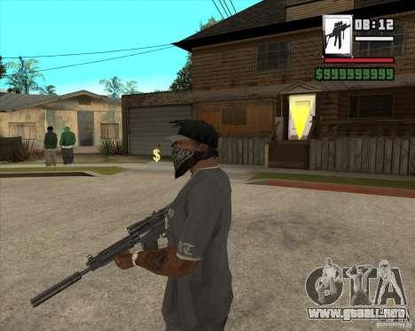Sig550-m4 para GTA San Andreas segunda pantalla