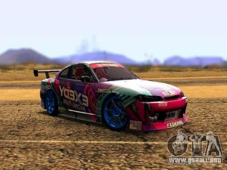 Nissan Silvia S15 EXEDY RACING TEAM para GTA San Andreas left