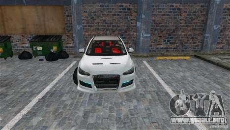 Mitsubishi Lancer Evo X para GTA 4 interior