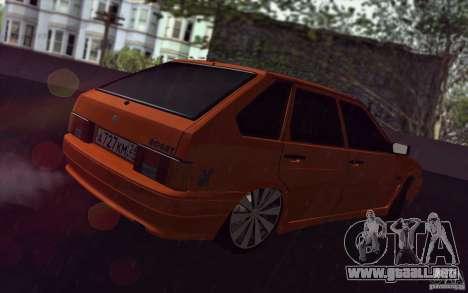 2114 Ваз con jugo de naranja para GTA San Andreas vista hacia atrás