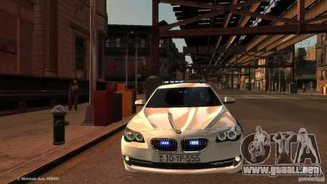 BMW 550i Azeri Police YPX para GTA 4 vista interior