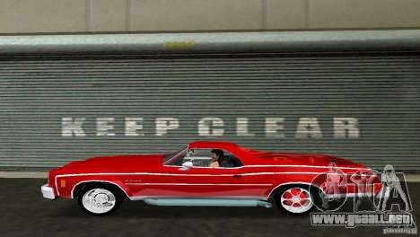 Chevrolet El Camino Idaho para GTA Vice City visión correcta