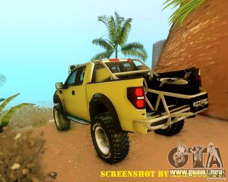 Ford F150 2011 SVT RapTor para las ruedas de GTA San Andreas
