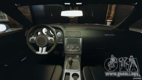 Dodge Challenger SRT8 392 2012 para GTA 4 vista hacia atrás