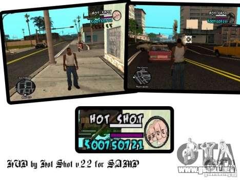 HUD by Hot Shot v.2.2 for SAMP para GTA San Andreas