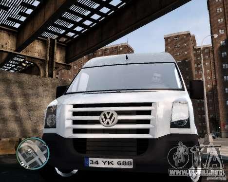 Volkswagen Crafter Turkish Schoolbus para GTA 4 vista hacia atrás